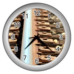 Train Track Wall Clock (Silver)