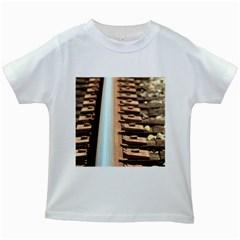 Train Track Kids' T Shirt (white)