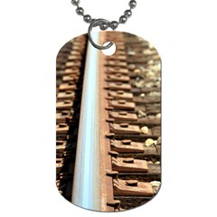 Train Track Dog Tag (One Sided)