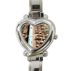 Train Track Heart Italian Charm Watch