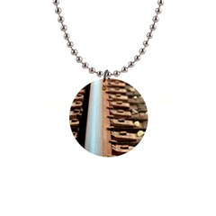 Train Track Button Necklace