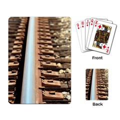 Train Track Playing Cards Single Design