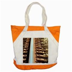 Train Track Accent Tote Bag