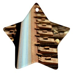 Train Track Star Ornament (two Sides)