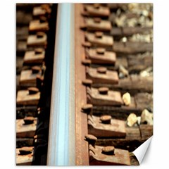 Train Track Canvas 8  x 10  (Unframed)