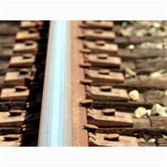 Train Track Canvas 12  x 16  (Unframed)