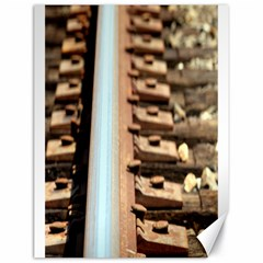 Train Track Canvas 18  X 24  (unframed)