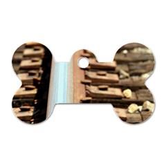 Train Track Dog Tag Bone (one Sided)