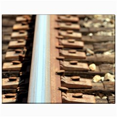 Train Track Canvas 11  x 14  9 (Unframed)