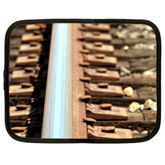 Train Track Netbook Case (Large)