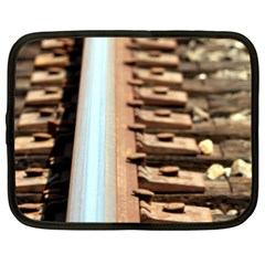 Train Track Netbook Case (xl)