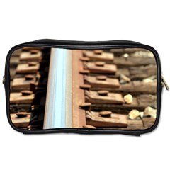 Train Track Travel Toiletry Bag (One Side)