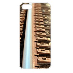 Train Track Apple iPhone 5 Seamless Case (White)