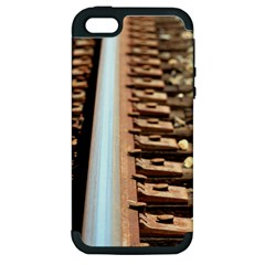 Train Track Apple Iphone 5 Hardshell Case (pc+silicone)