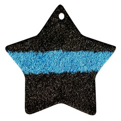 Black Blue Lawn Star Ornament