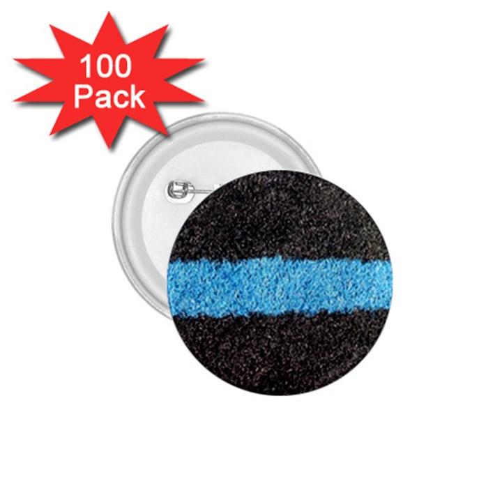 Black Blue Lawn 1.75  Button (100 pack)