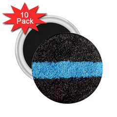 Black Blue Lawn 2.25  Button Magnet (10 pack)