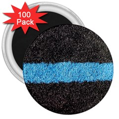 Black Blue Lawn 3  Button Magnet (100 pack)