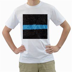 Black Blue Lawn Mens  T Shirt (white)