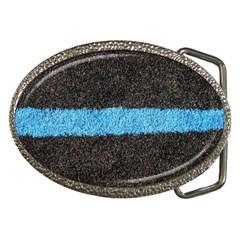 Black Blue Lawn Belt Buckle (oval)