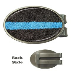 Black Blue Lawn Money Clip (Oval)