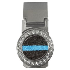 Black Blue Lawn Money Clip (CZ)