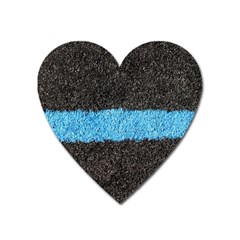 Black Blue Lawn Magnet (Heart)