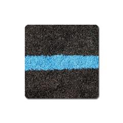 Black Blue Lawn Magnet (Square)