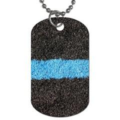Black Blue Lawn Dog Tag (Two Sided)