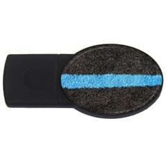 Black Blue Lawn 2GB USB Flash Drive (Oval)