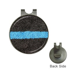 Black Blue Lawn Hat Clip With Golf Ball Marker