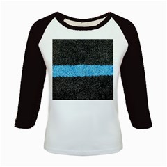 Black Blue Lawn Women s Long Cap Sleeve T-Shirt