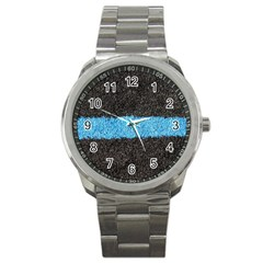 Black Blue Lawn Sport Metal Watch