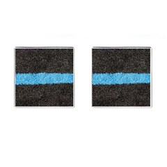 Black Blue Lawn Cufflinks (Square)