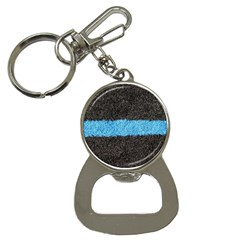 Black Blue Lawn Bottle Opener Key Chain