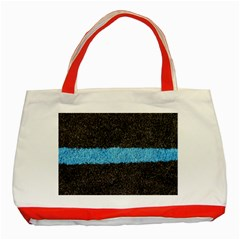 Black Blue Lawn Classic Tote Bag (Red)
