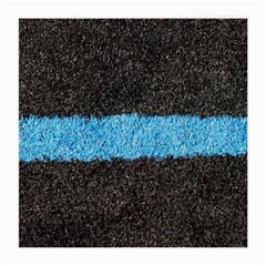 Black Blue Lawn Glasses Cloth (medium, Two Sided)