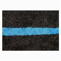 Black Blue Lawn Glasses Cloth (large, Two Sided)