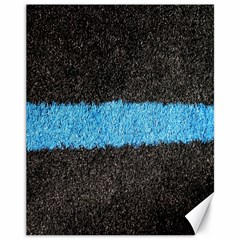 Black Blue Lawn Canvas 11  X 14  9 (unframed)