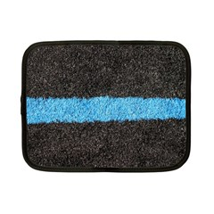 Black Blue Lawn Netbook Case (Small)