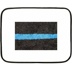 Black Blue Lawn Mini Fleece Blanket (Two-sided)