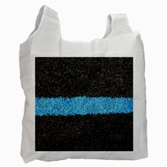 Black Blue Lawn Recycle Bag (Two Sides)