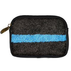 Black Blue Lawn Digital Camera Leather Case