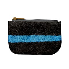 Black Blue Lawn Coin Change Purse