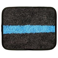 Black Blue Lawn Netbook Case (XL)