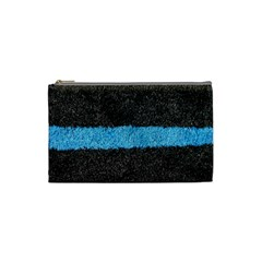 Black Blue Lawn Cosmetic Bag (Small)