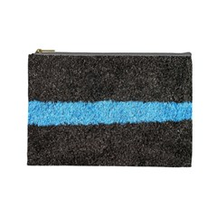 Black Blue Lawn Cosmetic Bag (Large)