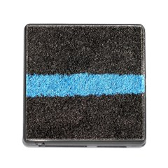 Black Blue Lawn Memory Card Reader with Storage (Square)