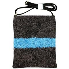 Black Blue Lawn Shoulder Sling Bag