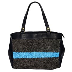 Black Blue Lawn Oversize Office Handbag (two Sides)